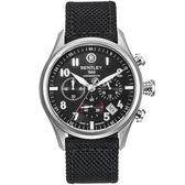 【BENTLEY】賓利 AVIATOR系列 遨翔菁英計時手錶 (黑面/黑 BL1684-20WBB)