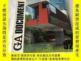 二手書博民逛書店GA罕見Document 92(英、日、雙語)Y8204 世界建築 世界建築