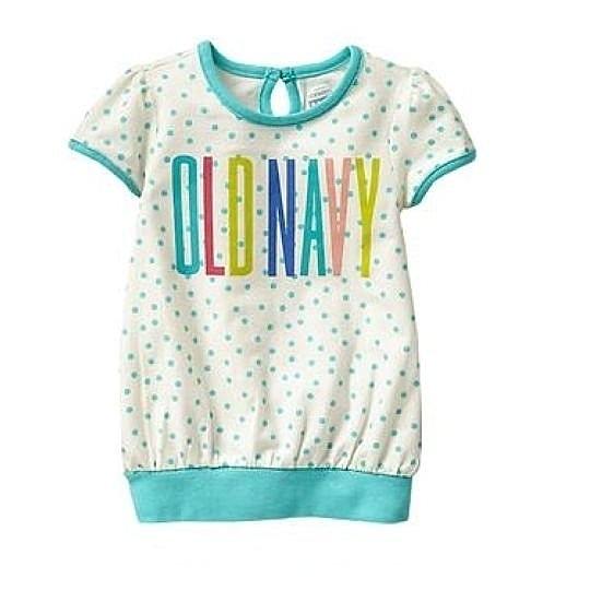 女童短袖上衣 T恤衣服 綠點 | Old Navy童裝 (兒童/小孩/小朋友/幼童/小童/孩童/寶寶)