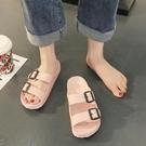 涼鞋女士2021年新款平底仙女風時裝運動涼鞋大學生夏季拖鞋女外穿 夢幻小鎮