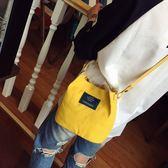 包包女新款韓版夏款時尚水桶包休閒帆布手提包文藝單肩斜挎包  Cocoa