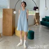 現貨5折-牛仔洋裝夏季女裝韓版寬鬆網紅減齡洋氣顯瘦無袖背心裙短裙復古牛9-3