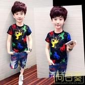 男童短袖T恤透氣夏裝2019新款韓版潮童裝兒童半袖體恤衫男孩夏季