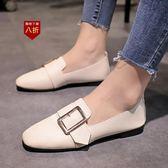 小皮鞋娃娃鞋豆豆鞋女新款鞋百搭懶人一腳蹬平底單鞋韓版小皮鞋  凱斯盾數位3C