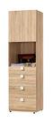 【森可家居】多莉絲2尺四抽衣櫃(單只-編號2) 7ZX121-7 衣物收納 木紋質感 無印風 北歐風