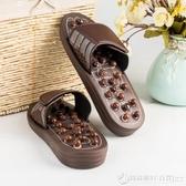按摩拖鞋磁療玉石穴位足底足療鞋室內家用防滑涼拖鞋男女按摩鞋  圖拉斯3C百貨
