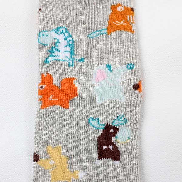 【愛的世界】動物樂園半統止滑透氣襪/9~19CM-台灣製- ★童鞋童襪