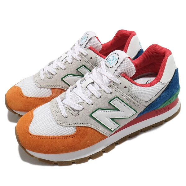 New Balance 休閒鞋 574D Rugged 男鞋 女鞋 藍 灰 橘 574 NB【ACS】 ML574DRUD