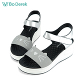 Bo Derek 貓咪造型厚底涼鞋-灰色