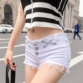 夏季新款性感辣妹酒吧牛仔褲短褲超短夜店女裝低腰熱褲子 美芭