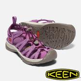 【KEEN 美國】Whisper 女護趾水陸兩用鞋『紫/灰』1018229 健行.涼鞋.自行車.溯溪.健走.海邊.沙灘鞋