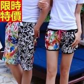 情侶款海灘褲(單件)-衝浪防水雙色拼接質感花紋男女短褲66z29【時尚巴黎】