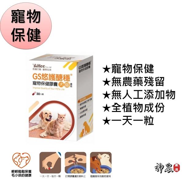 限時買一送一 GS悠護醣穩 寵物膠囊 (30入裝) 犬貓保健食品 現貨 快速出貨