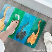 日式卡通硅藻泥地墊浴室吸水門墊衛生間速干硅藻土腳墊防滑墊大號 交換禮物 YYS