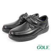 【GOLF】日本4E寬楦手工魔鬼氈鹿皮休閒氣墊鞋 黑色(GF9247-BL)