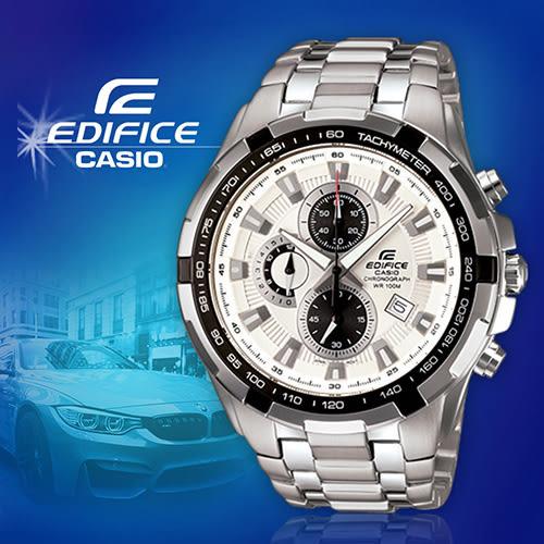 CASIO手錶專賣店 卡西歐  EDIFICE EFR-539D-7A 男錶 賽車錶  防水100米 三針三眼  碼錶 不銹鋼錶殼錶帶