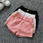 女童短褲 女童夏季牛仔短褲韓版破洞中大童兒童白色純棉外穿百搭寬鬆熱褲子 芭蕾朵朵