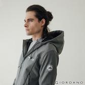【GIORDANO】男裝Softshell 三合一高機能刺繡徽章連帽外套-02 深花灰