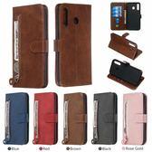 小牛紋系列 三星 M30 M20 M10 手機皮套 A10 手機殼 純色 拉鏈包 錢包款 側翻 插卡 手機套 保護套