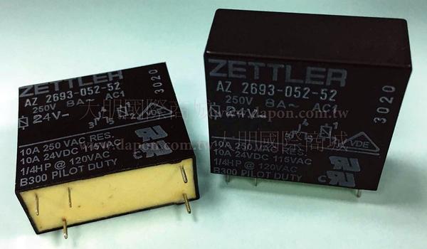 *大朋電子商城*AMERICAN ZETTLER AZ2692-052-52 繼電器Relay(5入)