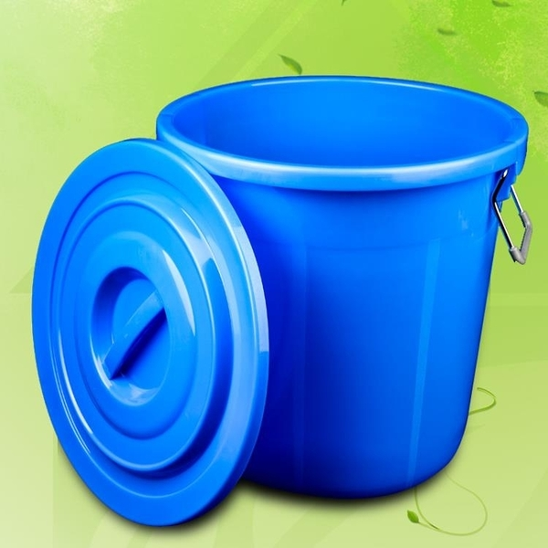 大垃圾桶大號環衛容量廚房戶外無蓋帶蓋圓形特大號商用塑料家用 安雅家居館