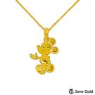 Disney迪士尼系列金飾 黃金墜子-帥氣米奇款 送項鍊