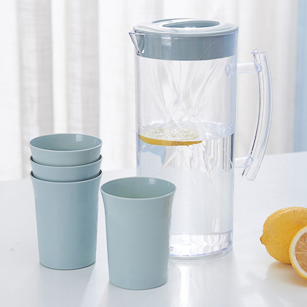 粉彩冷水壺杯組 (1壺4杯/組) 不挑色 A7204