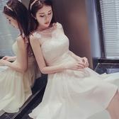 多款香檳色短款伴娘禮服 小禮服 連身裙(S/M/L/XL)