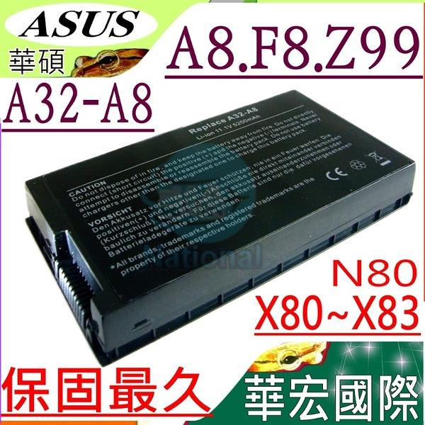 ASUS 電池(保固最久)-華碩 A32-A8,A8,F8,X80,N80,A8,,A8SC,A8JE,N80,N80Vc,N80Vn,N81,N81Vg,N81Vp