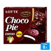 LOTTE 黑巧克力派(12顆)336g*8【愛買】
