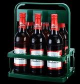 啤酒塑料提籃便攜式提藍可折疊酒架KTV6瓶裝提子手提框紅酒筐杯架 【618特惠】