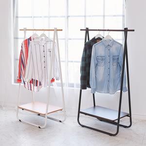 【ikloo】日系A字型掛衣架/吊衣架(兩色可選)白