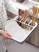 摺疊碗碟架餐具收納盒瀝水架碗筷收納箱廚房水槽碗架置物架