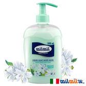 【義大利MILMIL】白麝香溫和絲柔液態皂500ml