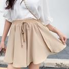 高腰系蝴蝶結雪紡半身裙 2020年夏款純色工裝短裙子日式仙洋氣 BT22268『bad boy時尚』