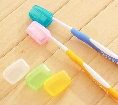 出國旅遊必備!戶外旅行抗菌潔淨5色牙刷套(5入) 牙刷 套 盒 防菌 生活 小物