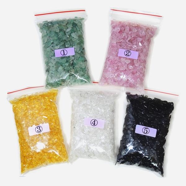 【吉祥開運坊】DIY系列【小型聚寶盆專用 五行水晶石 五色石 小顆 每包100公克 2號是粉色】已淨化