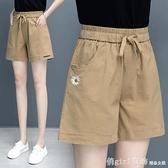 休閒短褲 純棉短褲女新款夏天寬鬆外穿運動休閒褲子女薄款高腰顯瘦闊腿女褲 618購物節