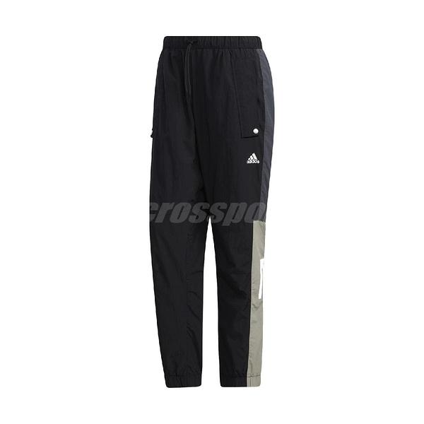 adidas 長褲 Must Haves Woven Pants 黑 白 男款 運動褲 專業 運動休閒 【ACS】 GE0393