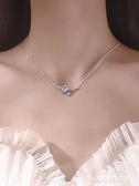 項鍊 星球項鍊女小眾設計感純銀ins冷淡風簡約氣質高級輕奢月亮鎖骨鍊 新品