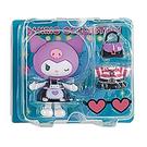 Sanrio 換裝娃娃組 擺飾玩偶 公仔 庫洛米 圍裙裝 藍_261351