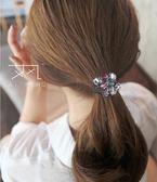 髮飾水晶髮繩小皮筋扎頭髮馬尾頭飾品頭繩頭花女打結髮圈    芊惠衣屋