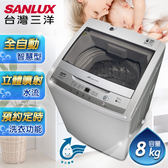 SANLUX台灣三洋 洗衣機 媽媽樂8公斤單槽洗衣機不鏽鋼脫水槽 ASW-95HTB
