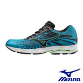 【MIZUNO促銷5折】MIZUNO(男) WAVE SAYONARA 4 一般型慢跑鞋 / 藍x黑 - J1GC163010