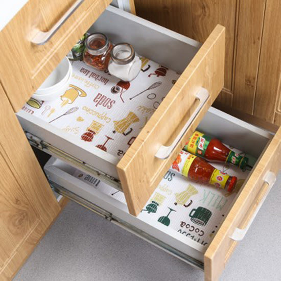 ✭慢思行✭【F74】多功能可裁剪櫥櫃墊(長) 45x200cm 廚房 防油 抽屜紙防水墊 衣櫃墊 防水