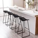 吧臺椅鐵藝吧凳家用簡約高腳凳北歐休閒創意吧椅咖啡廳椅子【快速出貨】