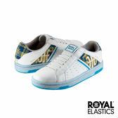 Royal Elastics Icon Alpha 經典運動鞋-白x藍x金x格紋