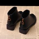 短靴 馬丁靴女英倫風新款女秋冬季單靴學生粗跟韓版小跟鞋百搭 - 古梵希