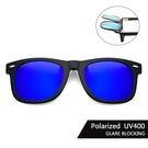 Polaroid偏光夾片 (藍水銀) 可掀式太陽眼鏡 防眩光 反光 近視最佳首選 抗UV400