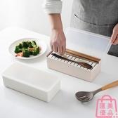 日式帶蓋筷子盒廚房塑料瀝水筷籠家用收納盒筷子筒【匯美優品】